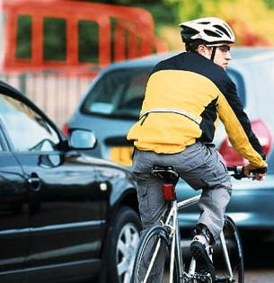 bikew in traffic